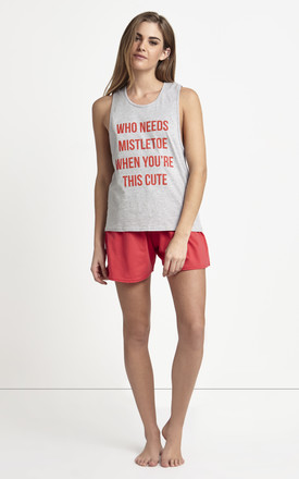 Pyjama Set With Christmas Slogan by Adolescent Clothing