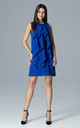 Sleeveless shift dress With Frill detail by FIGL