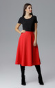 Red Flared Skirt by FIGL