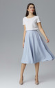Light Blue Flared Skirt by FIGL