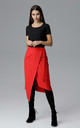 Red Wrap Skirt by FIGL