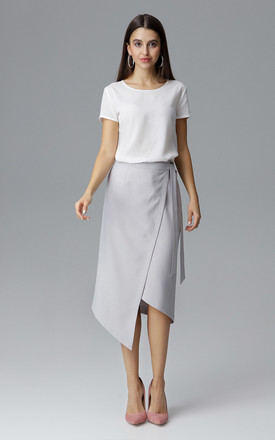 Grey Wrap Skirt by FIGL
