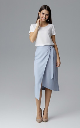 Light Blue Wrap Skirt by FIGL