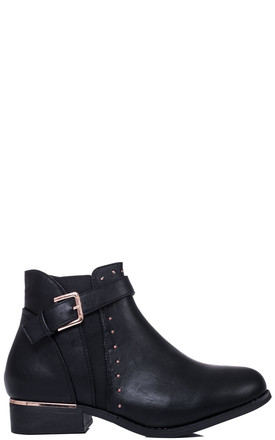 SULFER Wide Fit Flat Chelsea Ankle Boots - Black Leather Style by SpyLoveBuy