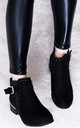 SULFER Wide Fit Flat Chelsea Ankle Boots - Black Suede Style by SpyLoveBuy