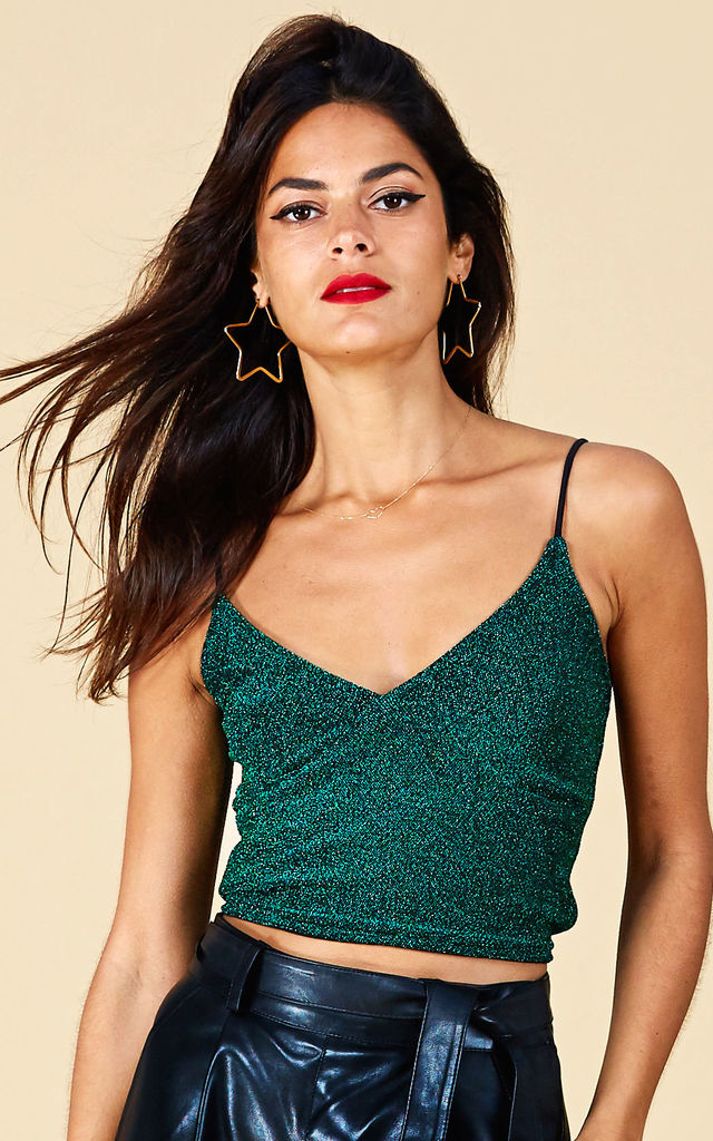 MIMI CAMI IN GREEN SPARKLE image