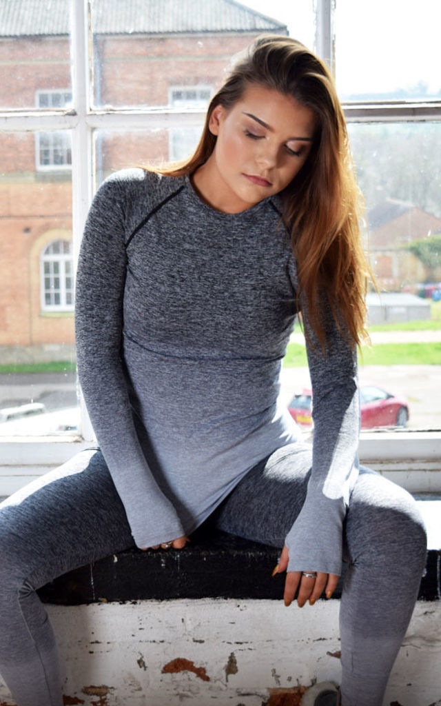 Ombré Grey Long Sleeve Top by Twisted Saint