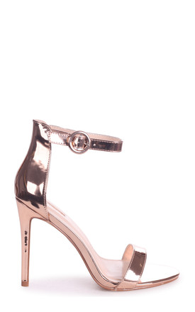 Nena Rose Gold Metallic Barely There Heel by Linzi