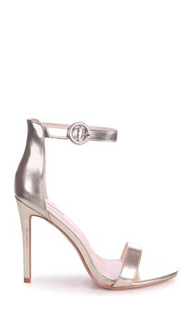 Nena Gold Metallic Barely There Heel by Linzi