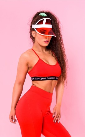 Shaping sports bra in Red by Sanctum gym apparel