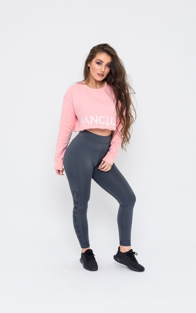 Cropped Jumper in Pink by Sanctum gym apparel