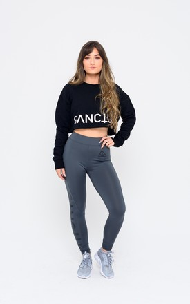 Cropped Jumper in Black by Sanctum gym apparel