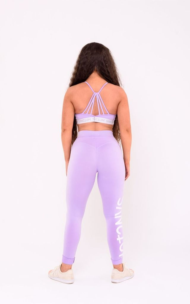 Shaping leggings in Purple by Sanctum gym apparel
