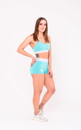 Shaping sports bra in Blue by Sanctum gym apparel