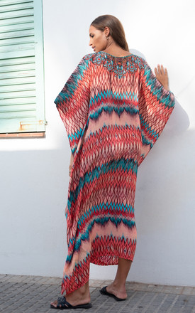 Maxima Orange Maxi Kaftan by Kitten Beachwear