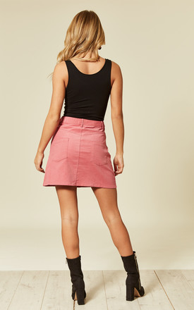 Pink Cord Skirt by UNIQUE21