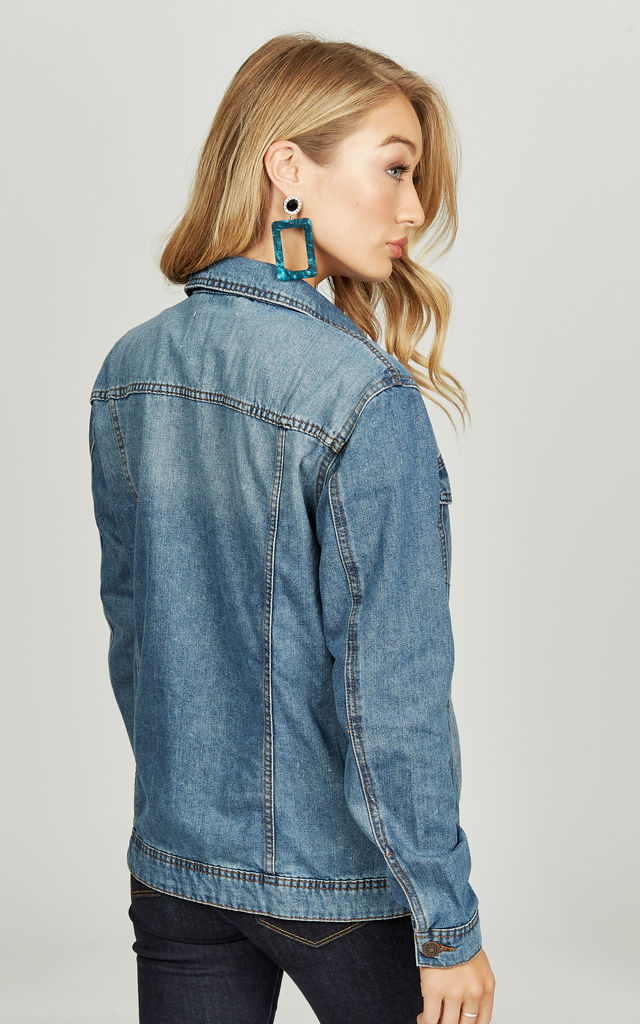Medium Blue Denim Jacket by Noisy May