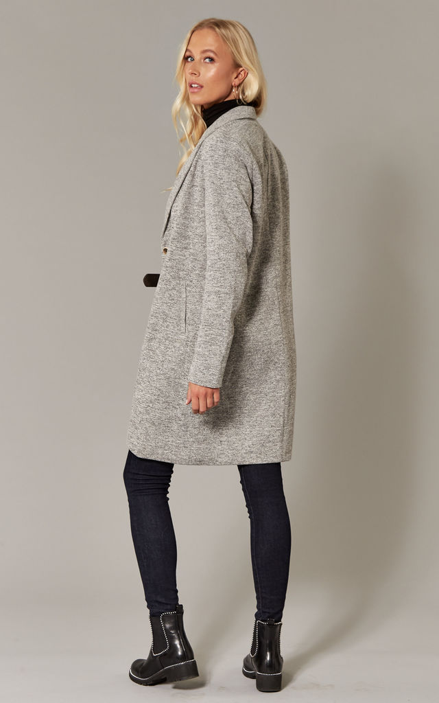 Light Grey Longline Two Button Coat by ONLY