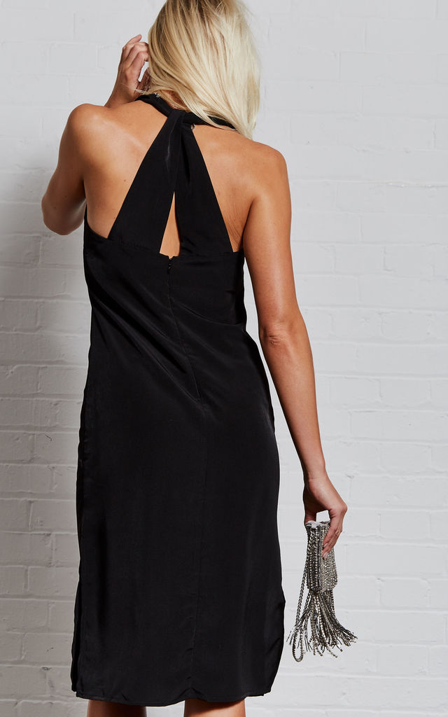 Karlie Black twist back slip dress by India Gray