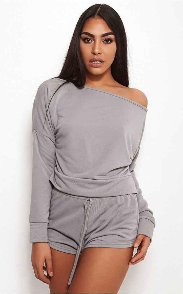 Aisha Grey Lounge Set by The Fashion Bible