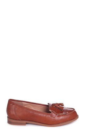Rosemary Loafers in Tan Nappa by Linzi