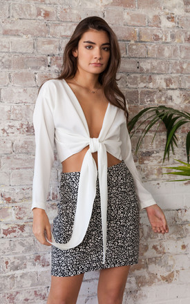 Multiway Tie Wrap Top/Blouse Cream by Mint Alice London