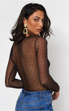 Coco Black Lace Bodysuit by The Fashion Bible