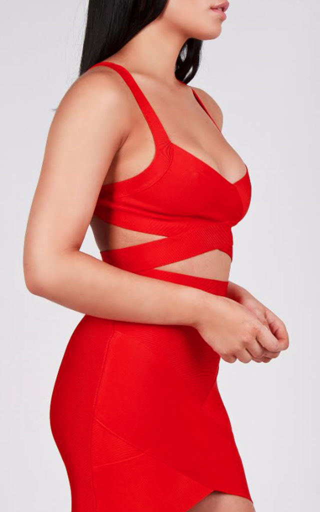 Bianca Red Bandage Bodycon Skirt by My Bandage Dress