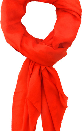 Classic Cashmere Scarf in Neon Orange by Ocean Ray