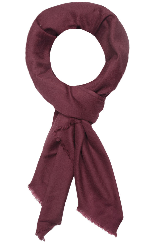 Classic Cashmere Scarf in Burgundy Red by Ocean Ray