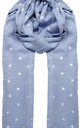 Cashmere Metallic Star Pashmina in Light Blue by Ocean Ray