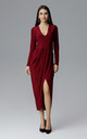 Deep Red Long Dress With a Slit by FIGL