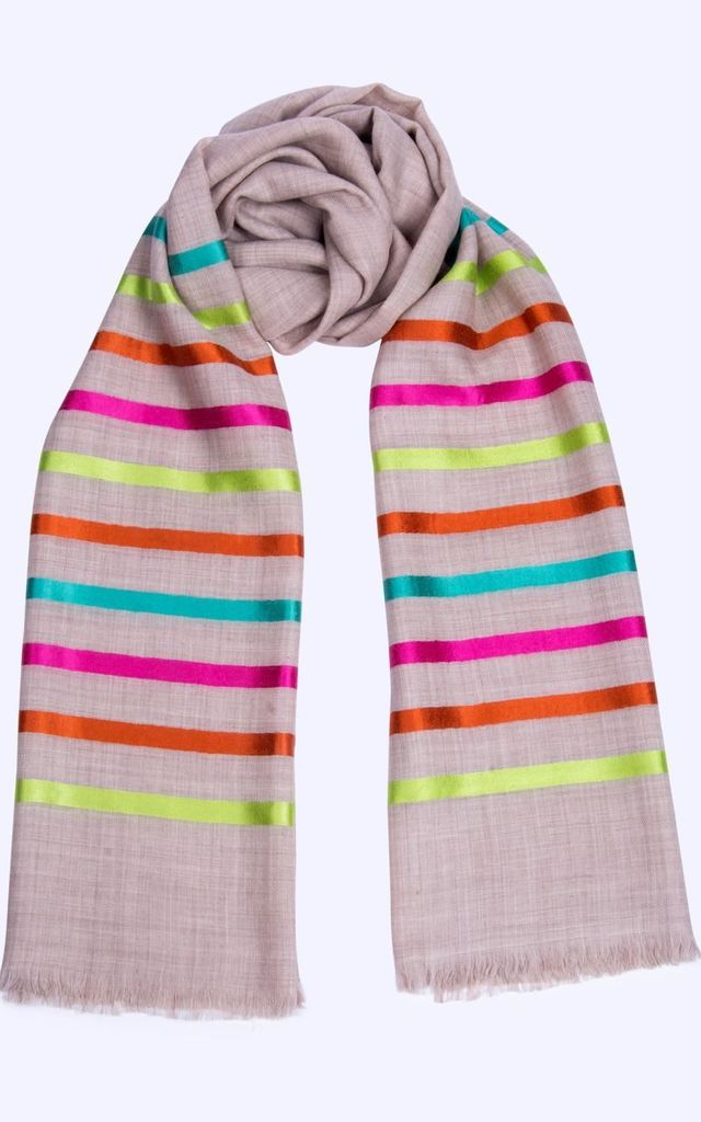 Summer Multicolour Candy Stripe Scarf by Ocean Ray