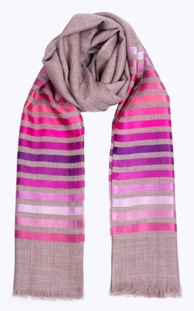 Ruby Stripe Scarf in Pink by Ocean Ray