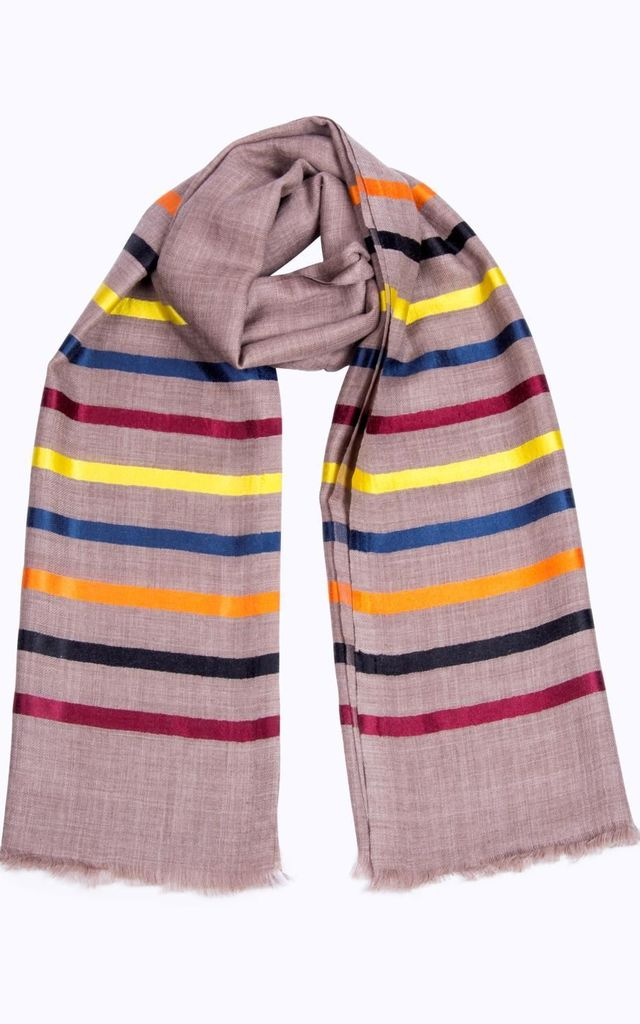 Tanya Multicolour Stripe Scarf by Ocean Ray
