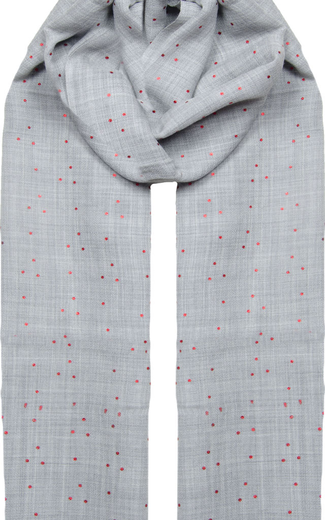 Dot Foil Scarf in Grey by Ocean Ray