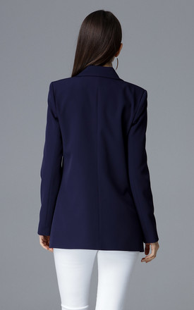 Navy Jacket Fastened With Buttons by FIGL