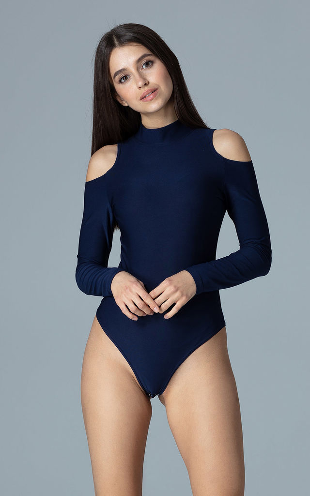 Navy Body With Cut Outs On The Shoulders by FIGL