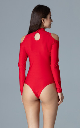 Red Body With Cut Outs On The Shoulders by FIGL