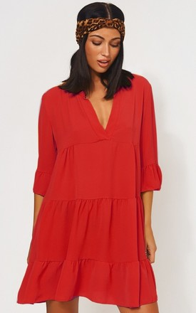 Gigi Red Smock Dress by The Fashion Bible Product photo