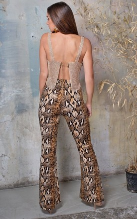 Snake Print High Waisted Trousers by Lavand Stories
