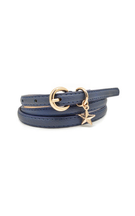 Star Charm Belt Navy by White Leaf Product photo