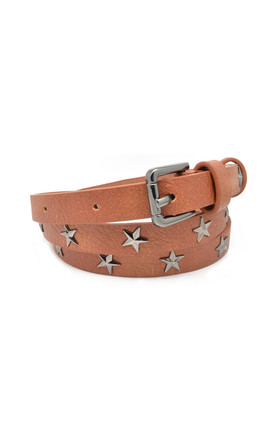 Star Studded Belt Tan by White Leaf Product photo