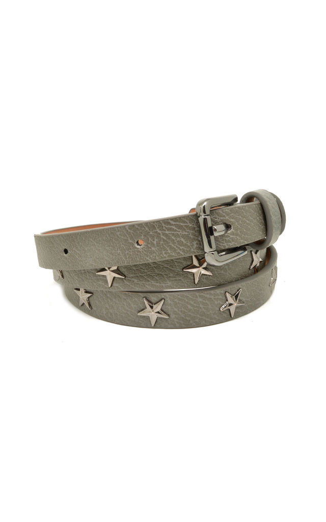 Star Studded Belt Khaki by White Leaf