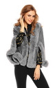 Ladies Faux Fur Cape Jacket in Grey by Looking Glam