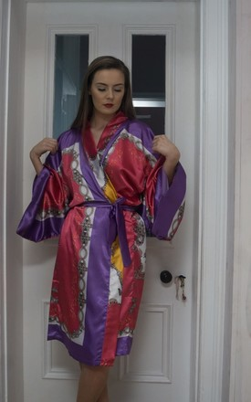 'Madame' Kimono in colourful print by House of Zana
