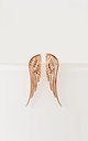 Rose Gold Angel Wing Studs by Booboo Boutique