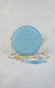 Pastel Blue Quilted Circle Chain Bag by Candypants