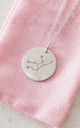 White Gold Virgo Star Sign Constellation Pendant by Booboo Boutique