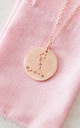 Rose Gold Pisces Star Sign Constellation Pendant by Booboo Boutique